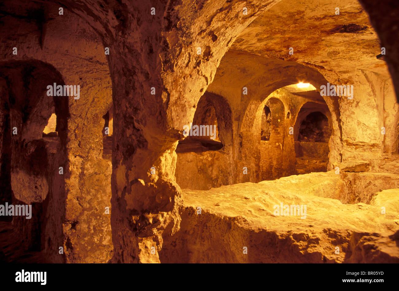 Elegant malta the underground catacombs at st paulus - Table murale a rabat ...