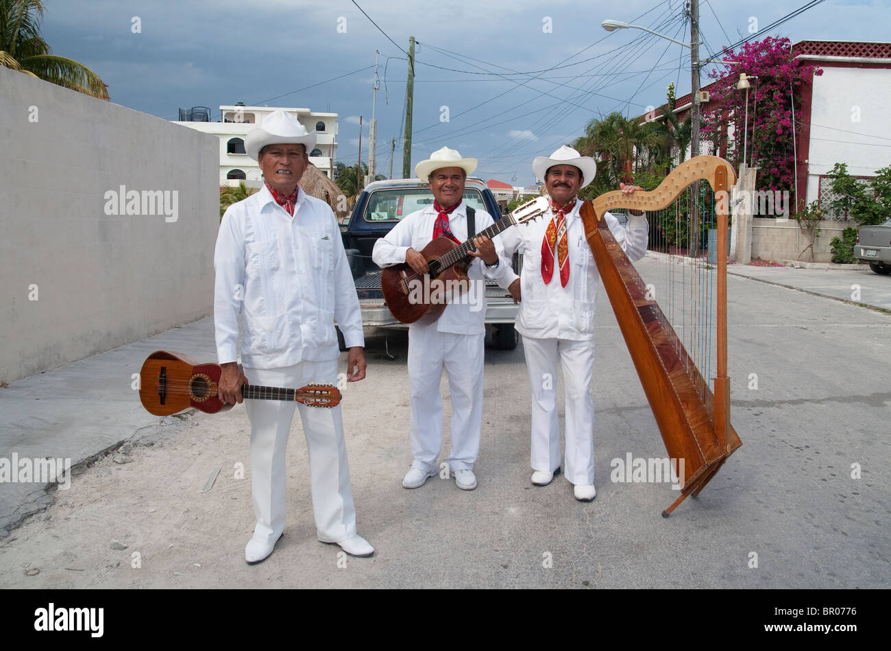 Trio-of-Mexican-musicians-photographed-o
