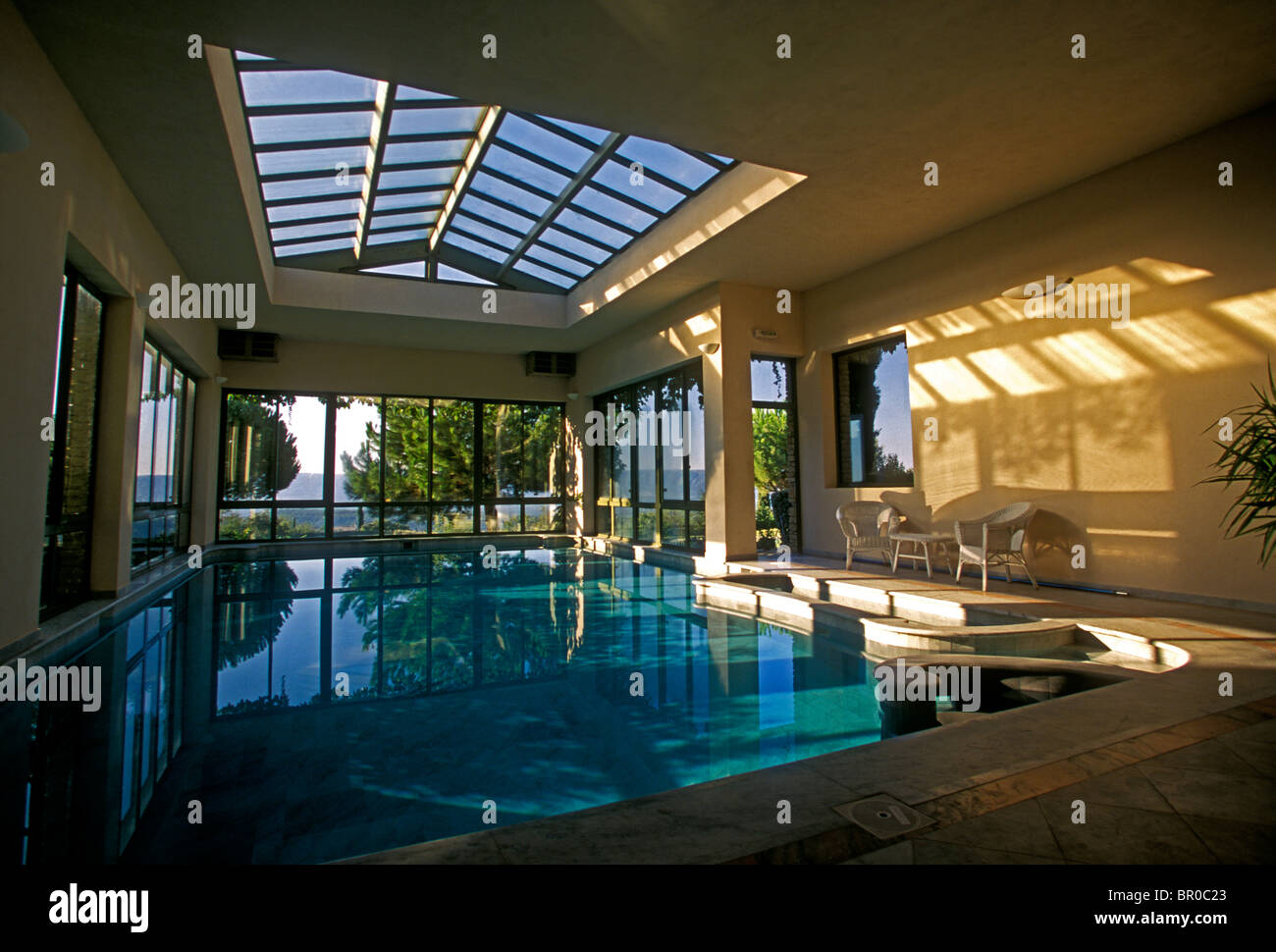 Indoor Heated Swimming Pool, Indoor Swimming Pool, Heated Swimming Pool, Swimming  Pool, Hotel Les Bories, Village Of Gordes, Provence, France, Europe