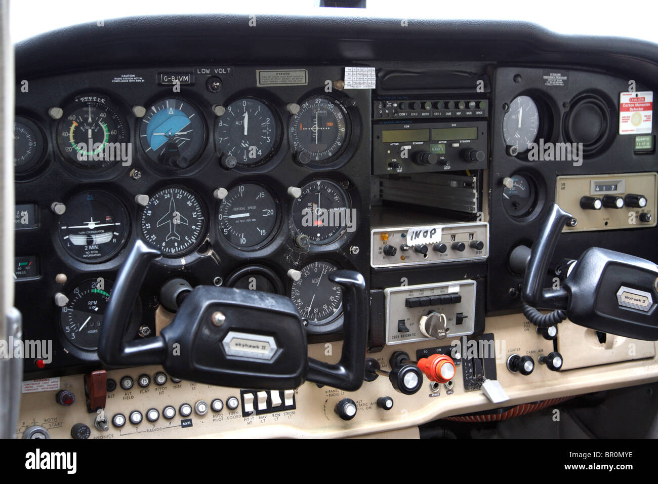 Airplane Instrument Panel : Light aircraft instrument panel stock photo royalty free