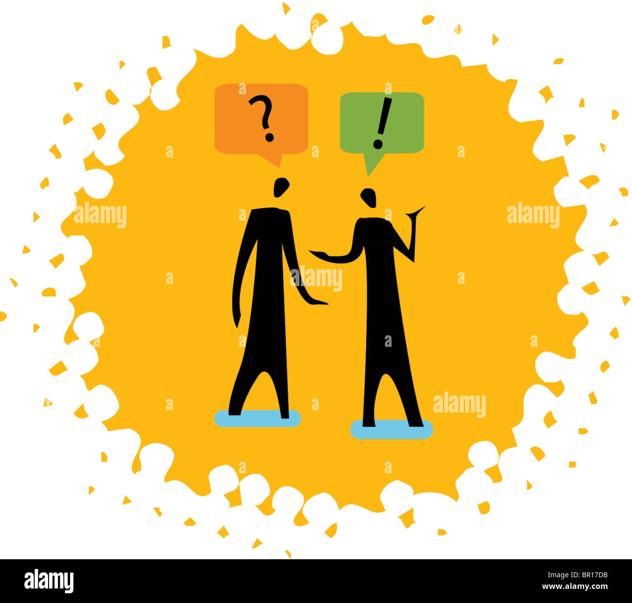 two people having a conversation stock photo royalty free