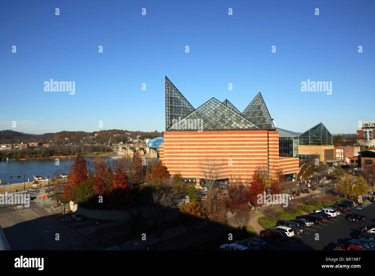 The Tennessee Aquarium In Downtown Chattanooga Tn Stock