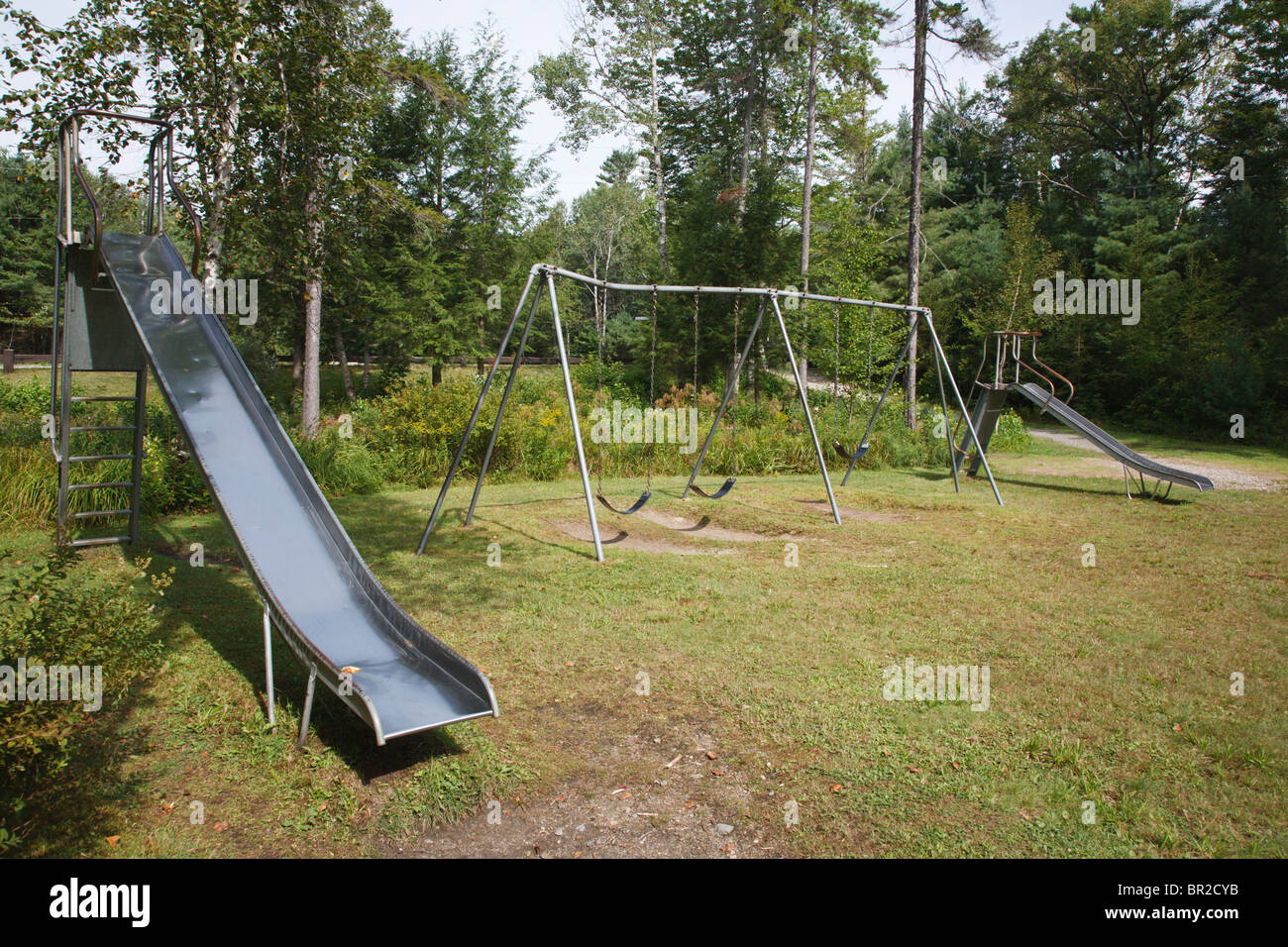 Empty playground at Forest Lake State Park in Whitefield ...