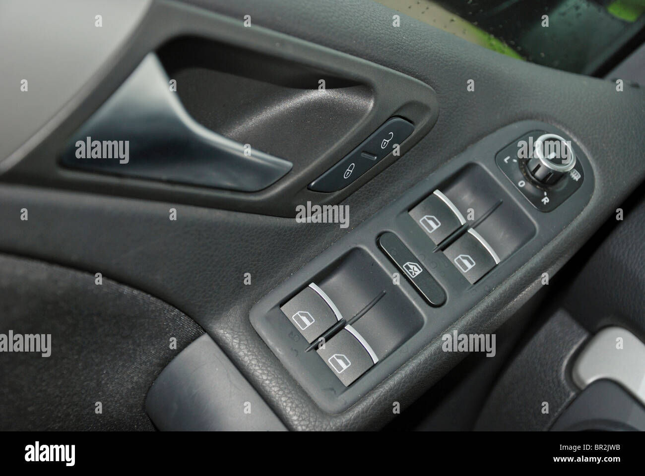door handle and electric windows / power windows buttons and ...