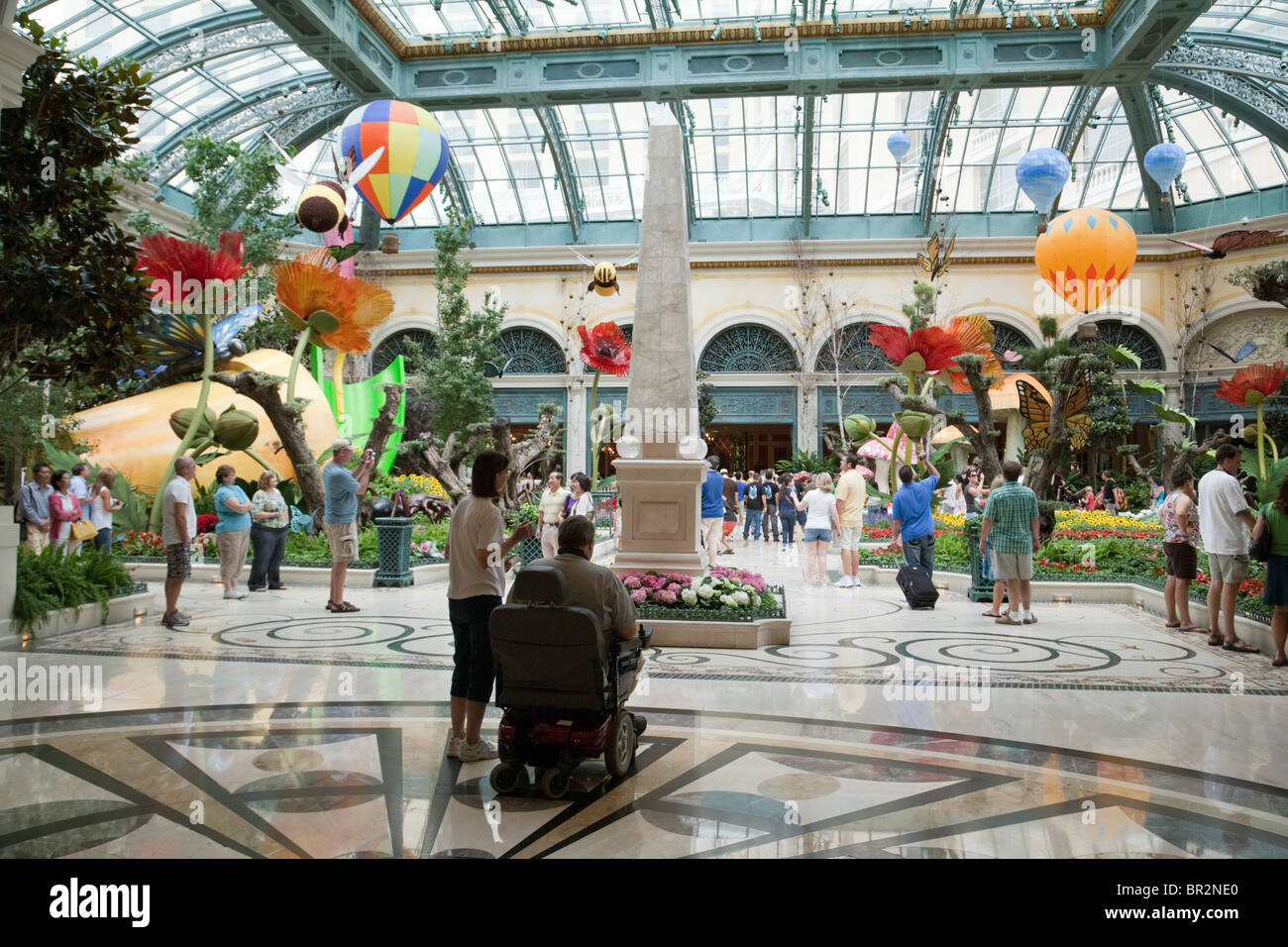 People Enjoying The Conservatory And Botanical Gardens, The Bellagio Hotel,  Las Vegas USA