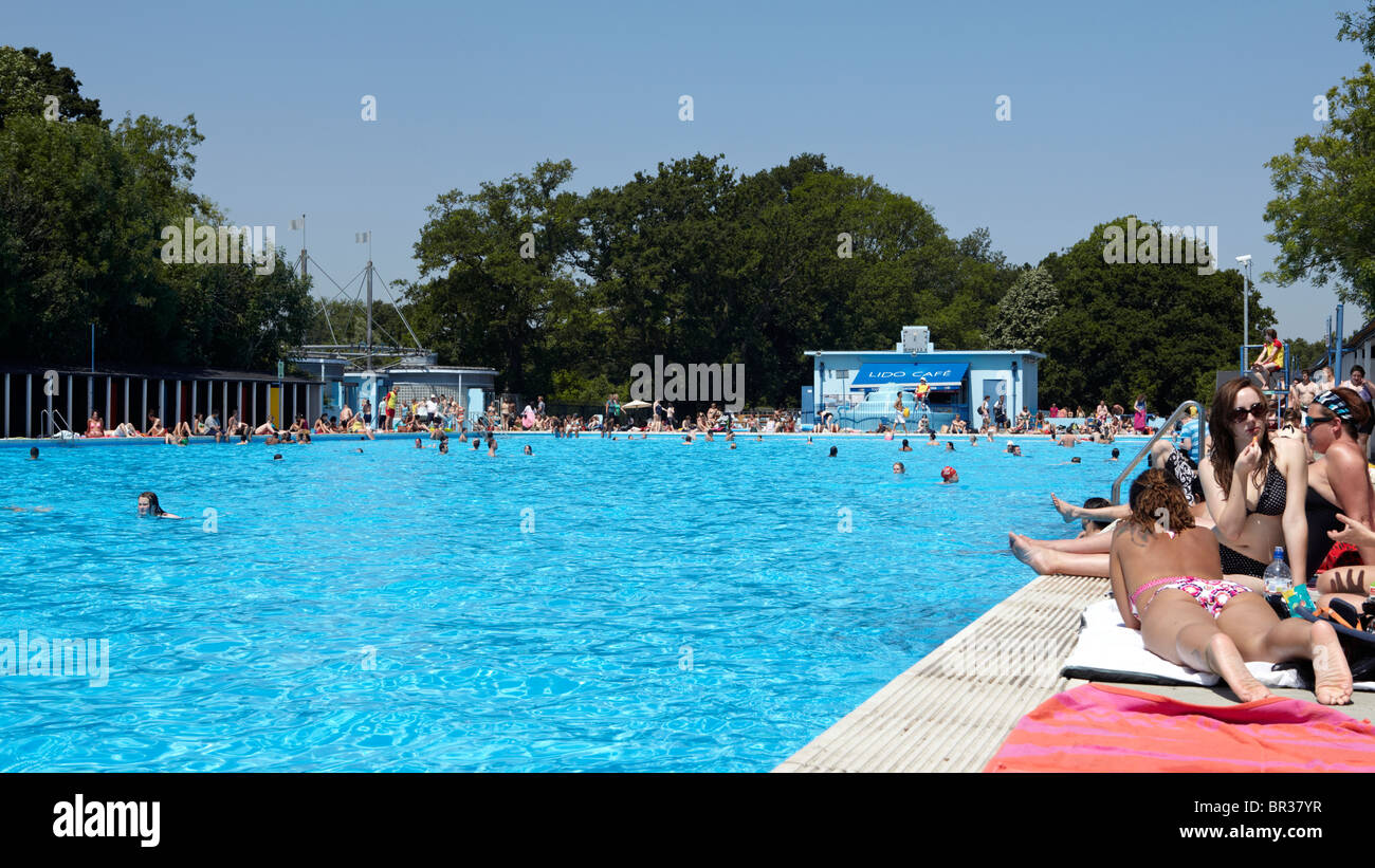 The Tooting Bec Lido London Uk Europe Stock Photo Royalty Free Image 31419579 Alamy