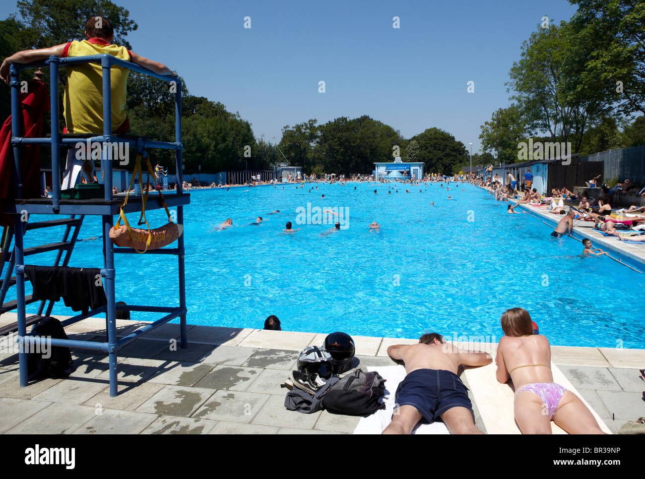 The Tooting Bec Lido London Uk Europe Stock Photo Royalty Free Image 31420978 Alamy