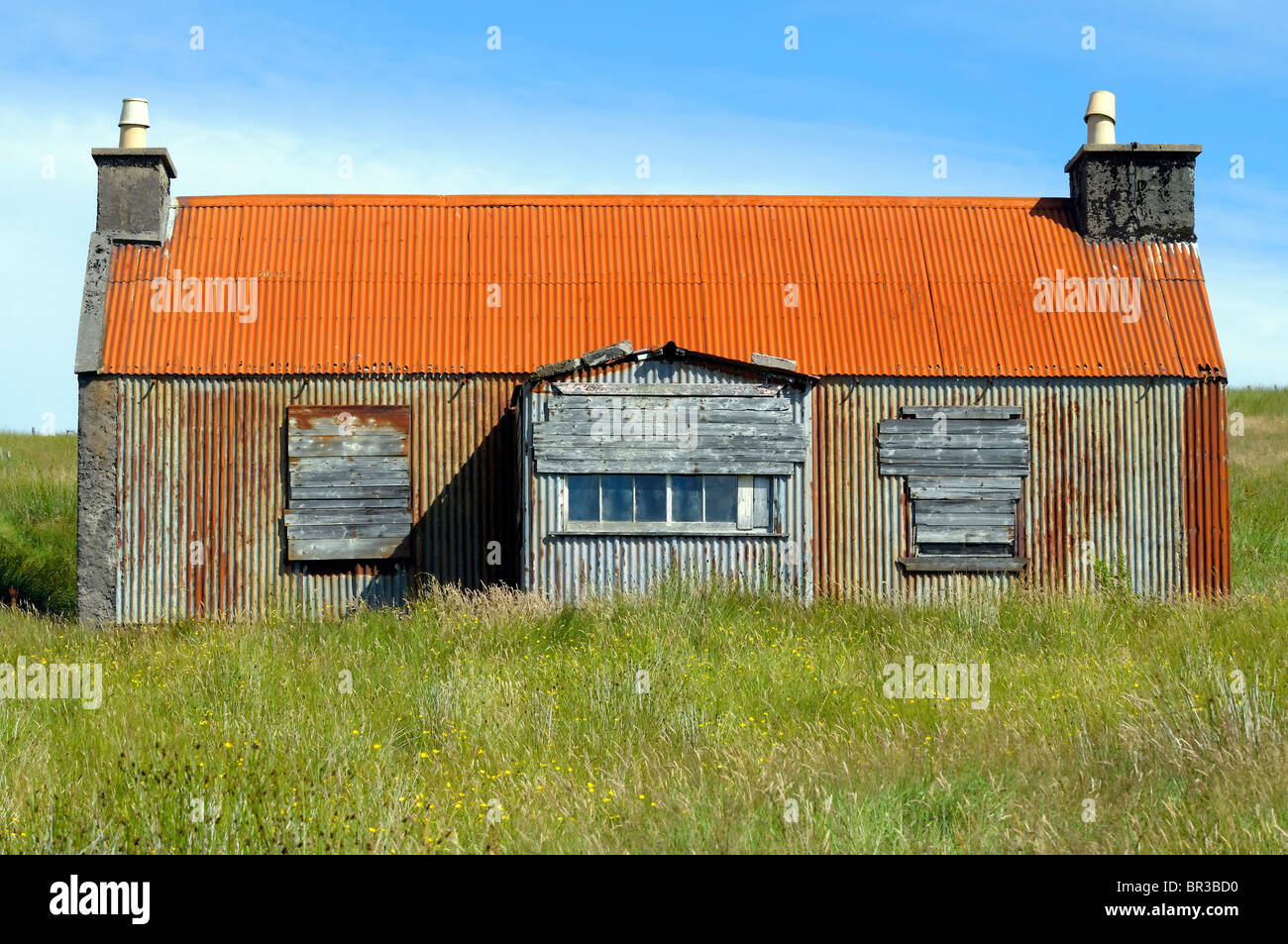 Old Corrugated Iron Building Stock Photo Royalty Free