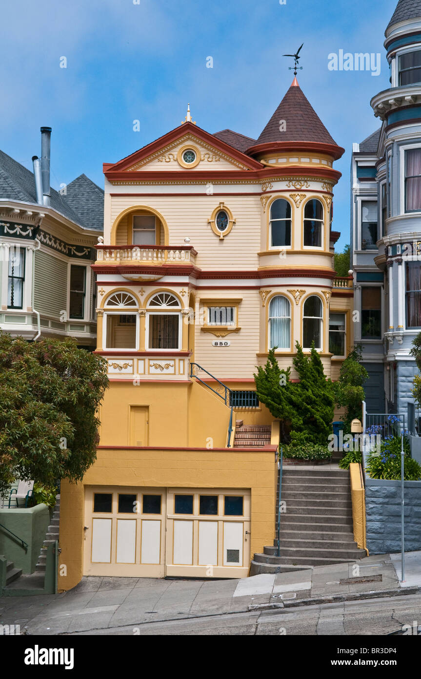 stock photo victorian style house in san francisco california usa - Victorian Style House