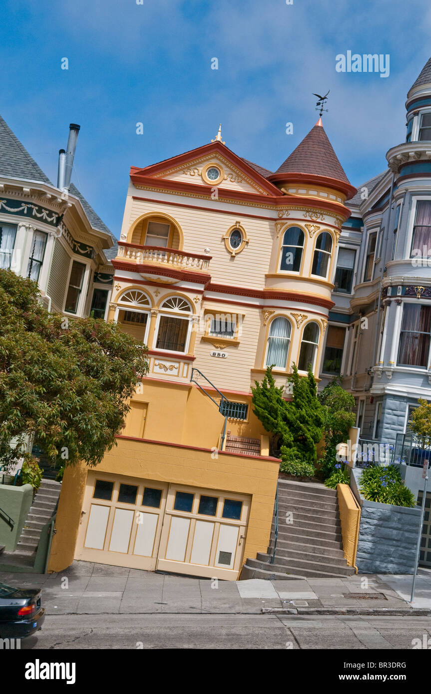 Stock photo victorian style house in san francisco california usa