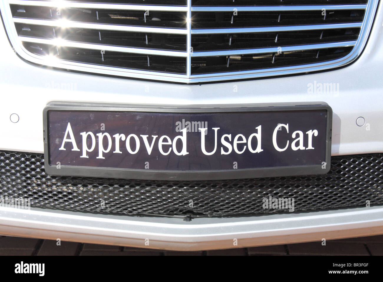 Used Cars For Sale Stock Image Image Of Cars License: Approved Used Car Sign On Number Plate Of A Car For Sale