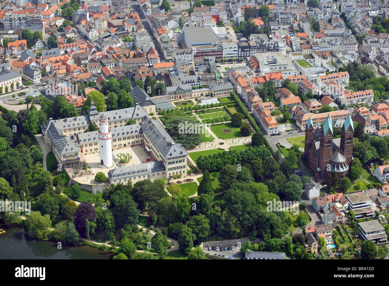 palace of bad homburg with erloeserkirche germany hesse bad stock photo royalty free image. Black Bedroom Furniture Sets. Home Design Ideas