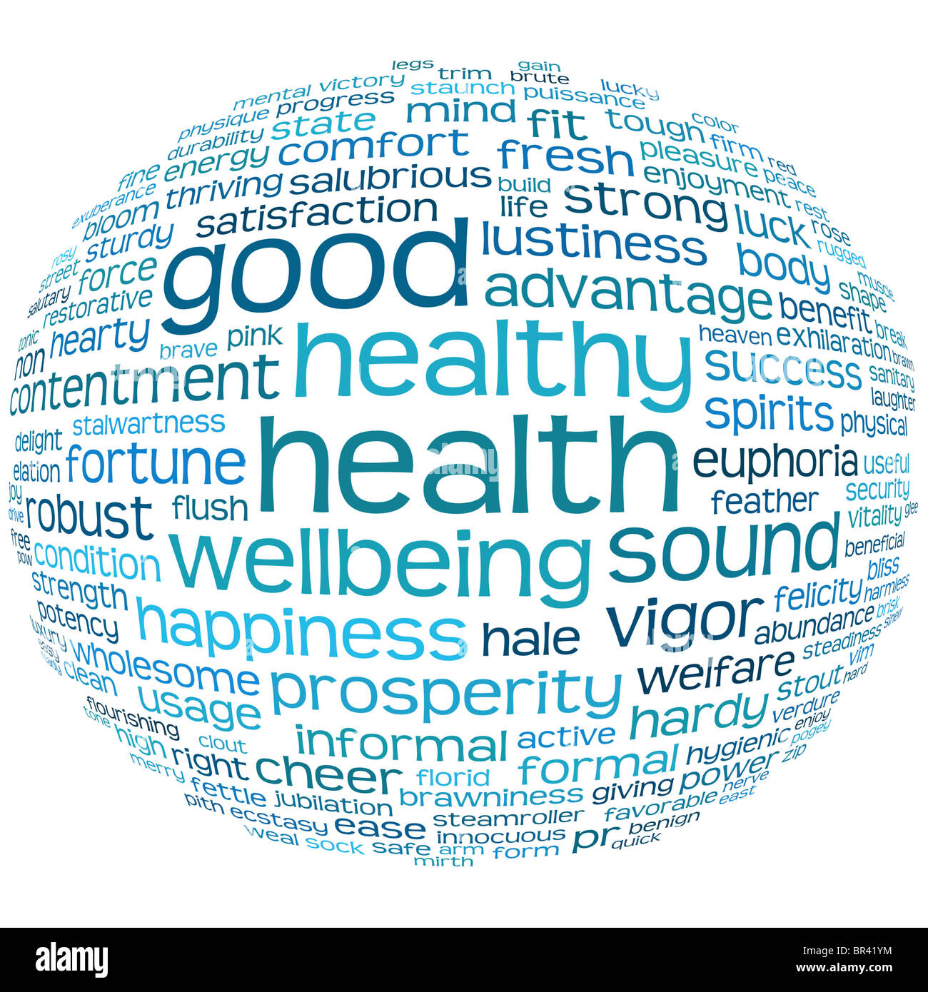 good health and wellbeing tag or word cloud Stock Photo, Royalty ...