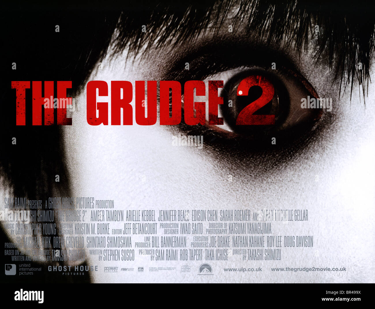 Movie Posters 2006: MOVIE POSTER THE GRUDGE 2 (2006 Stock Photo, Royalty Free