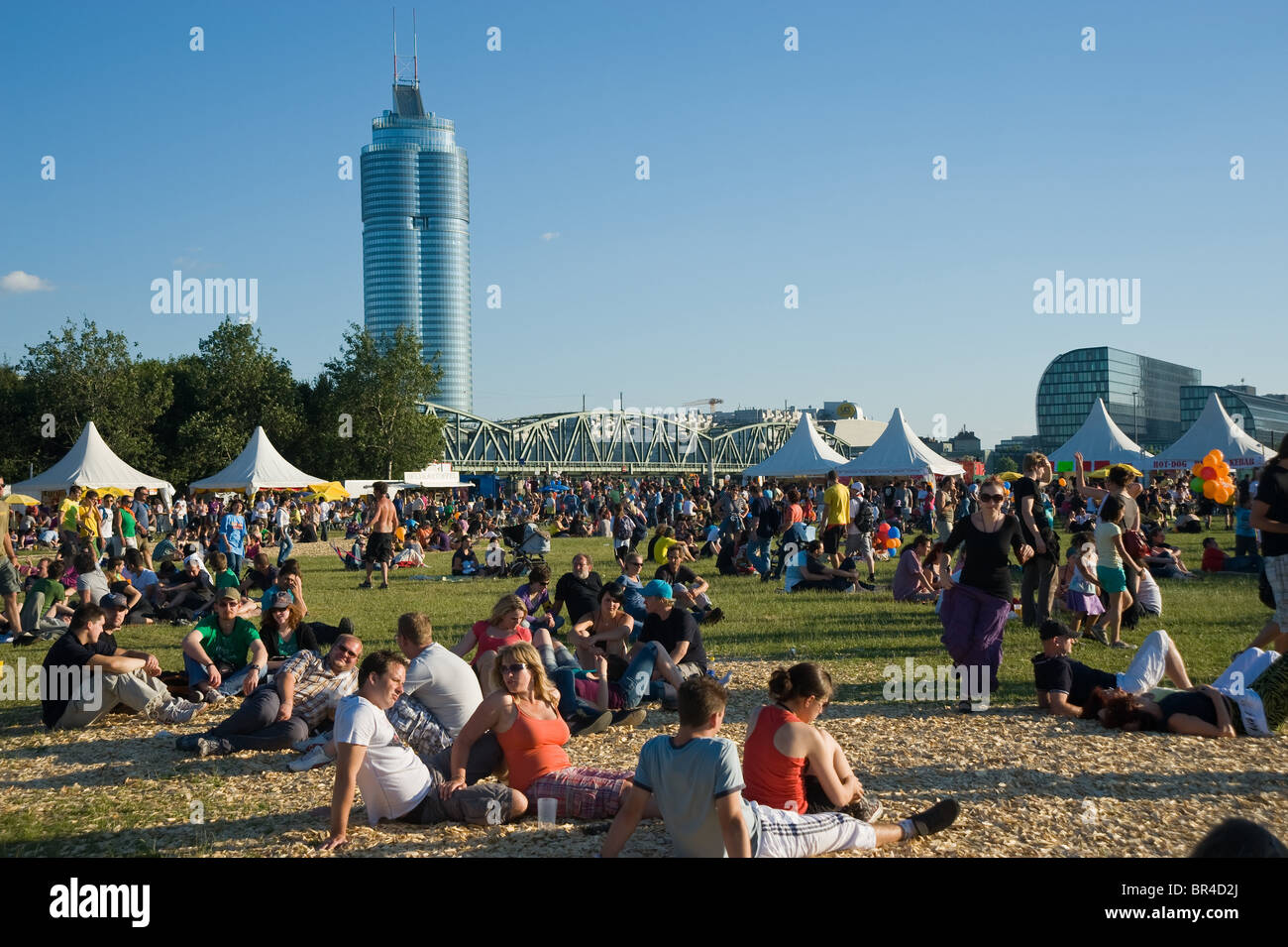 Donauinselfest: Wien, Donauinselfest Stock Photo, Royalty Free Image
