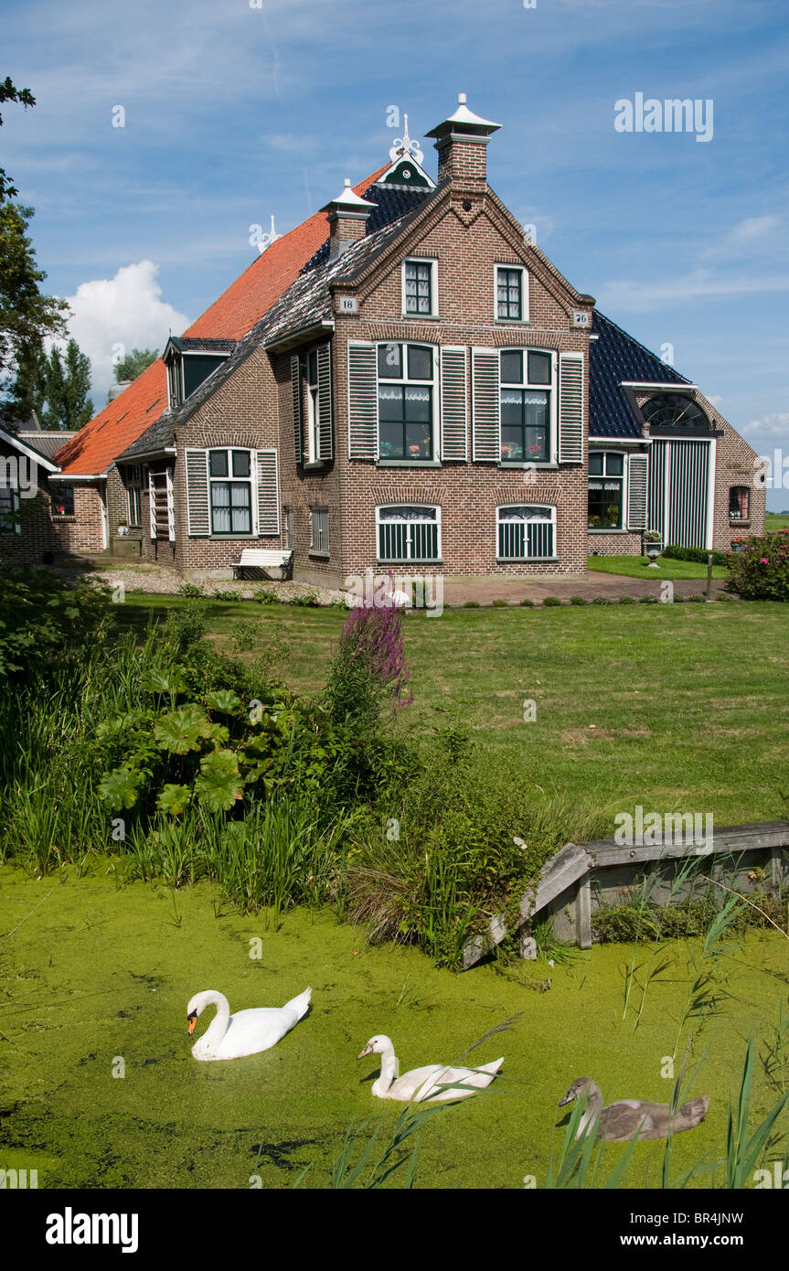 Friesland netherlands farm country seat manor stock photo for Farm house netherlands