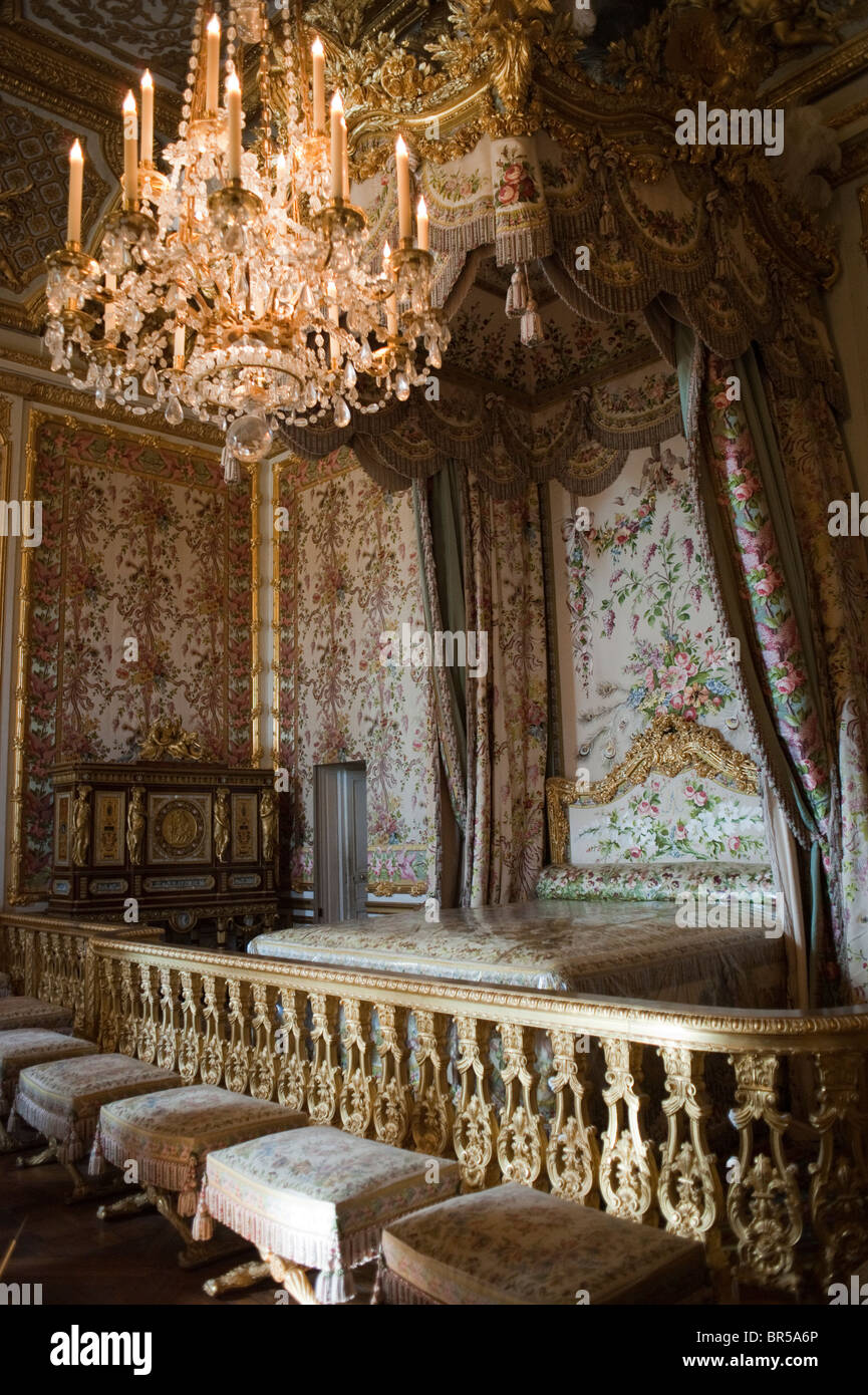 Stock Photo   Versailles  France  Interior Historic French Queen  39 s Bedroom  chateau de Versailles