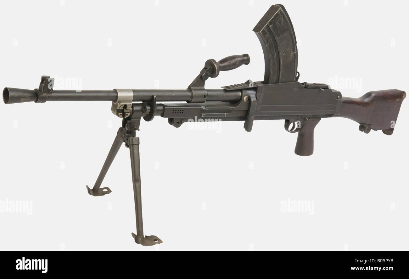 an english light machine gun bren mk ii calibre 303