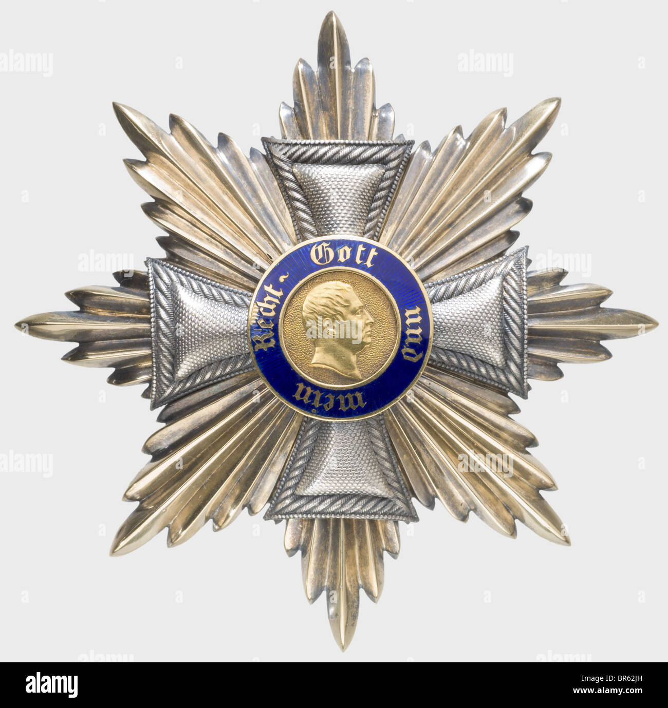 Order of frederick a star to the grand cross silver with gilt order of frederick a star to the grand cross silver with gilt areas gold medallion enamelled small chip flat waisted att buycottarizona