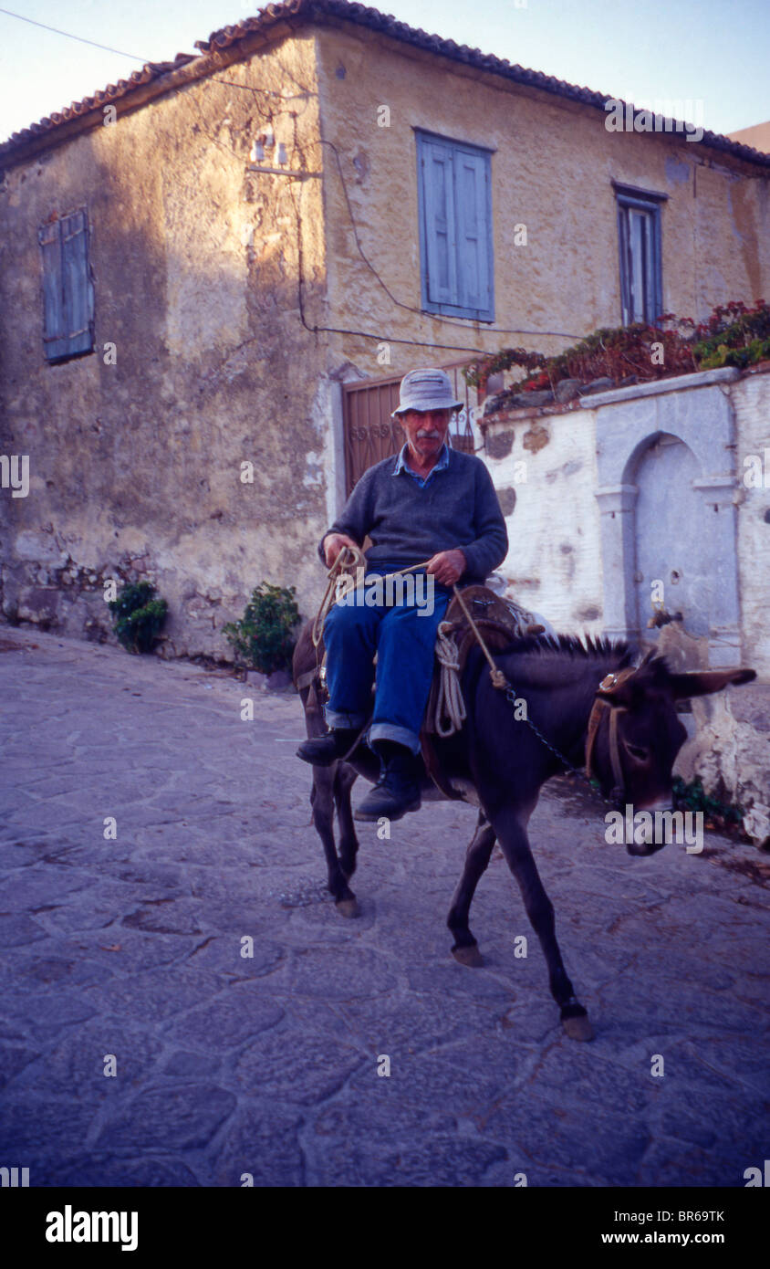A village elder on his donkey. Still the cheapest form of Stock ...