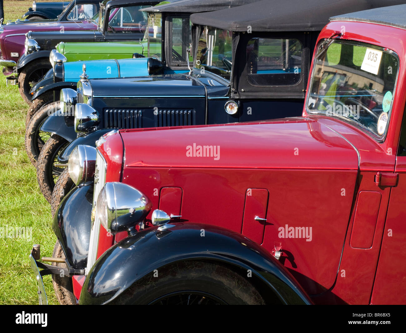 A row of vintage Austin 7 cars Stock Photo, Royalty Free Image ...