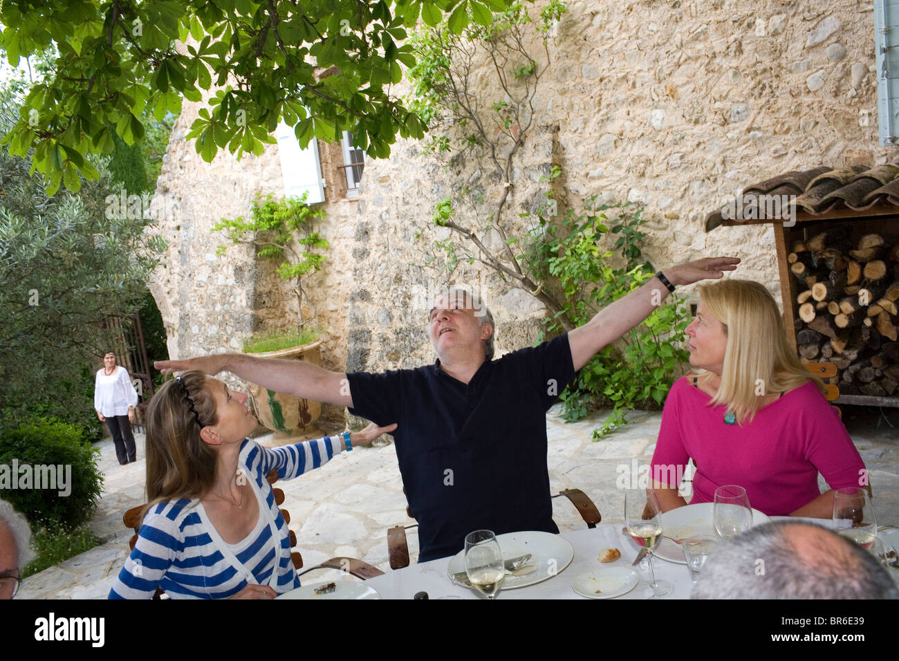 Alain Ducasse at La Bastide de Moustier with his wife Gwenaelle ...