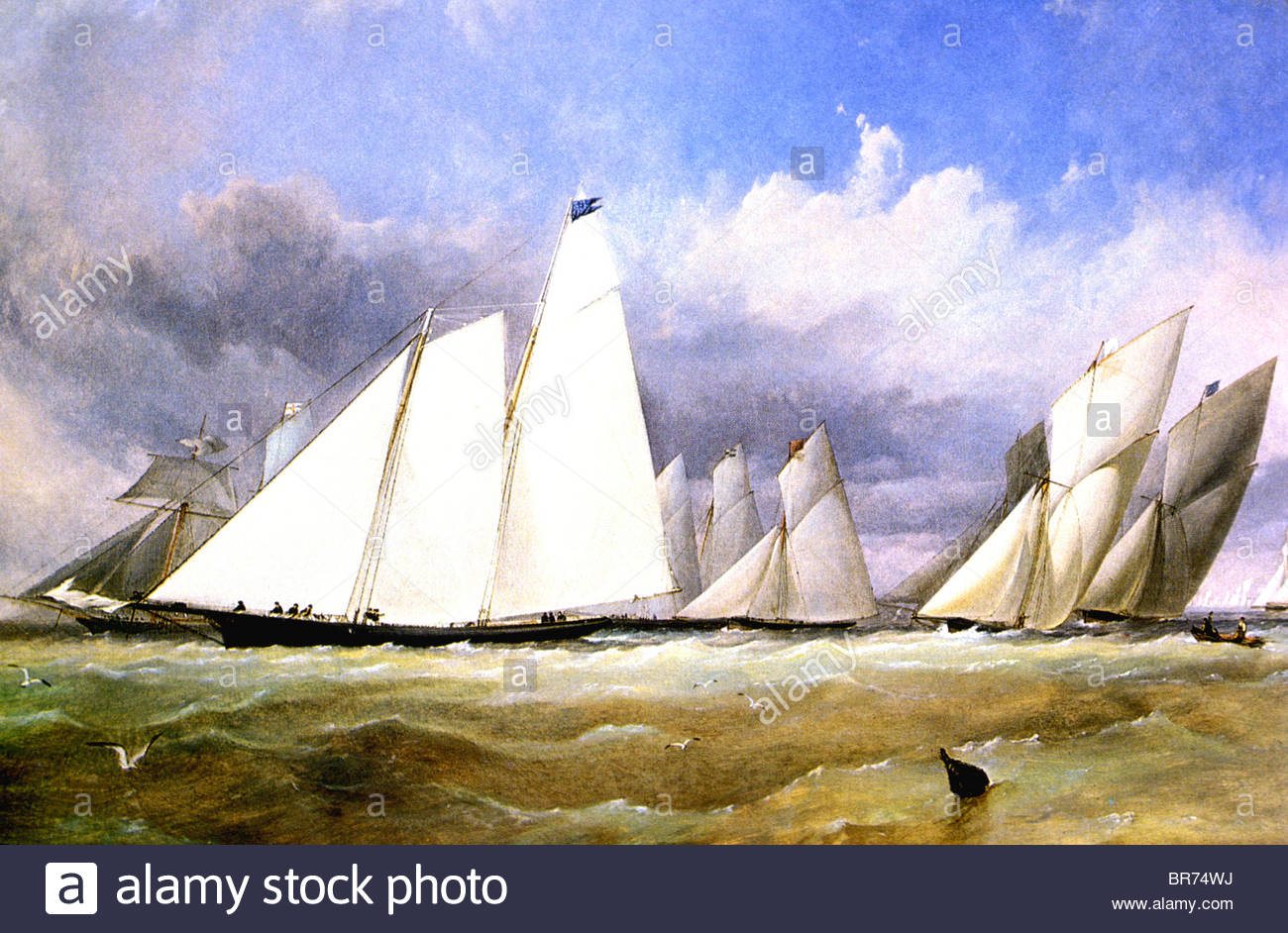 schooner-america-1851-race-by-thomas-sew