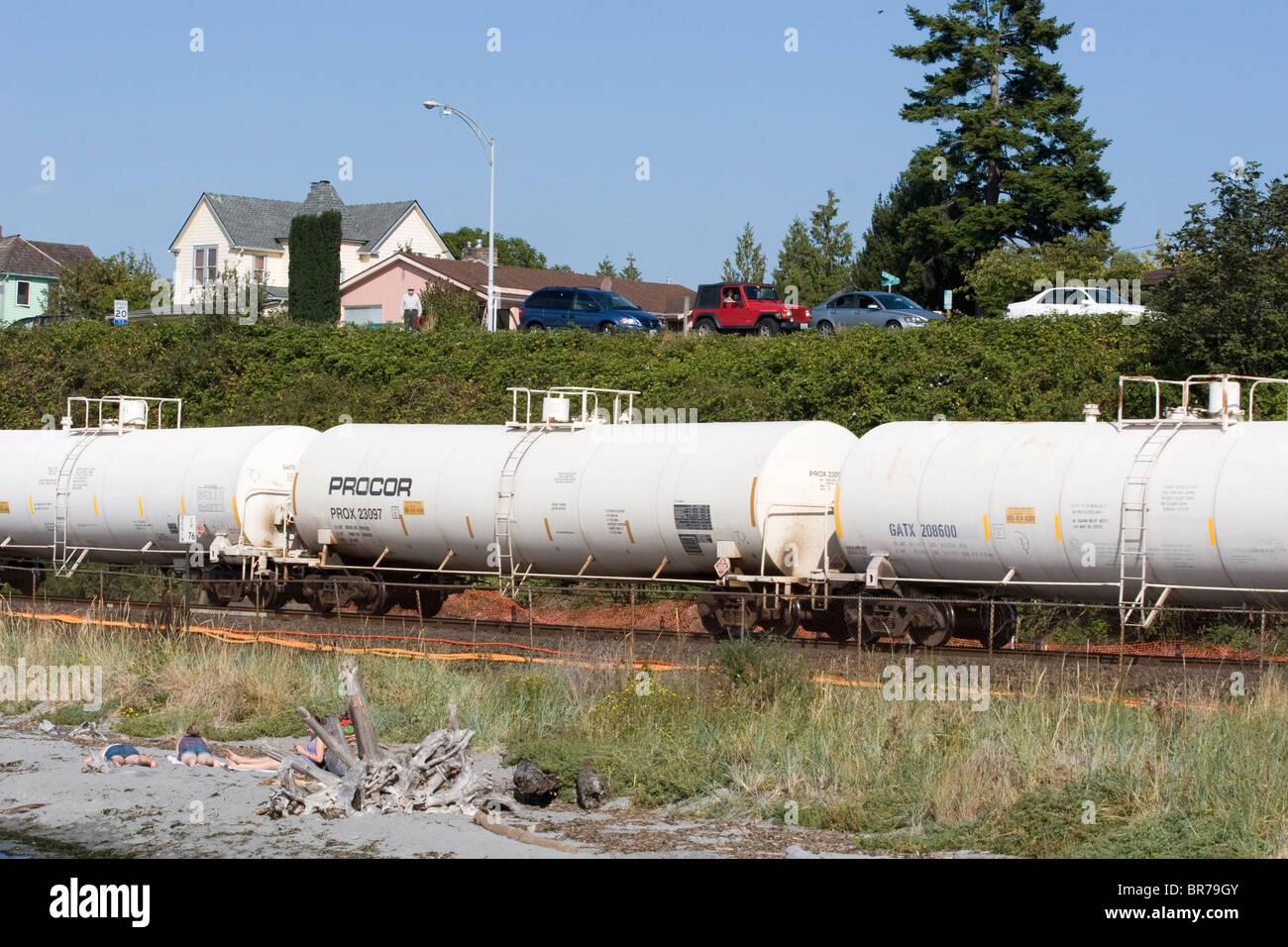 Procor Leasing Tank Car On Burlington Northern Santa Fe Bnsf