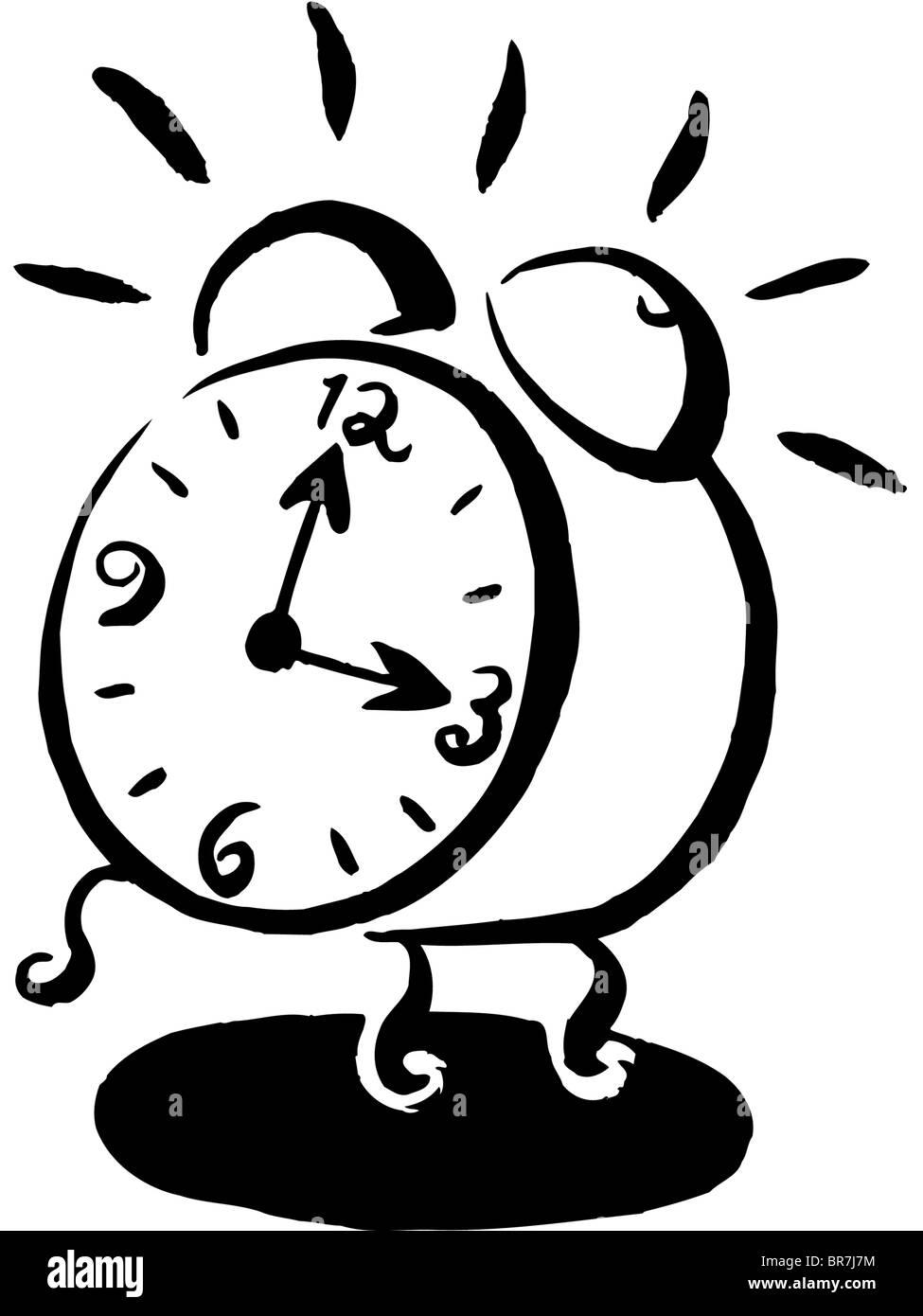 Cartoon Clock Black And White | www.pixshark.com - Images ...