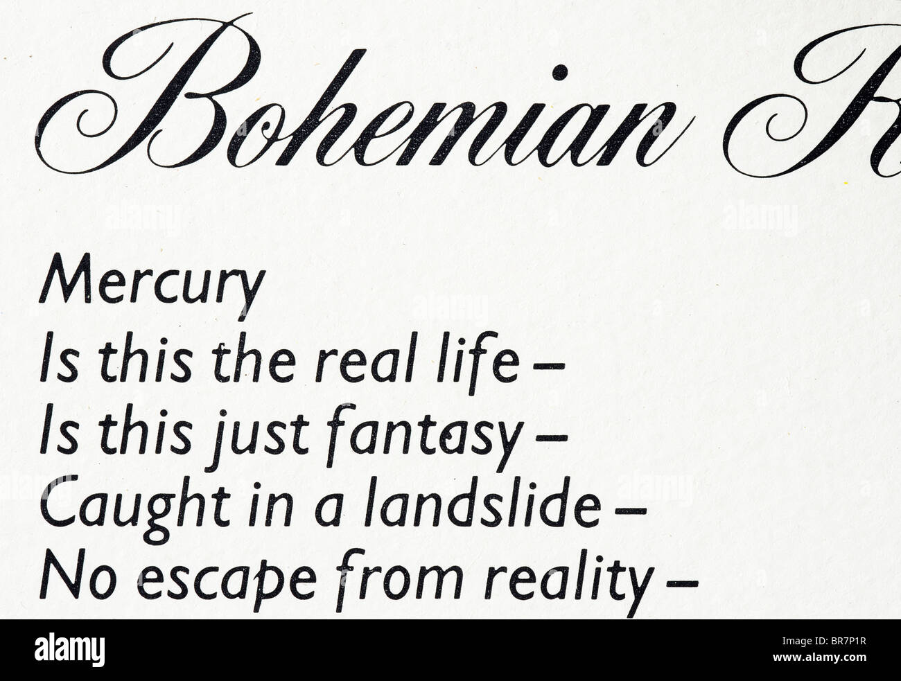 bohemian rhapsody lyrics meaning Bohemian rhapsody lyrics  song information artist: queen album: night at the opera lyrics is this the real life is this just fantasy caught in a landslide no escape from reality.