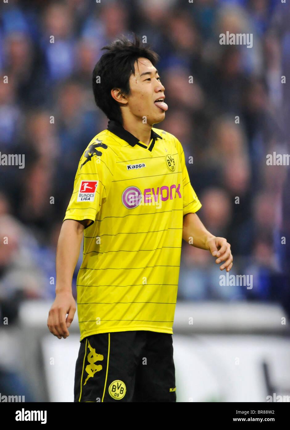 Shinji KAGAWA of Dortmund sticks out his tongue during the