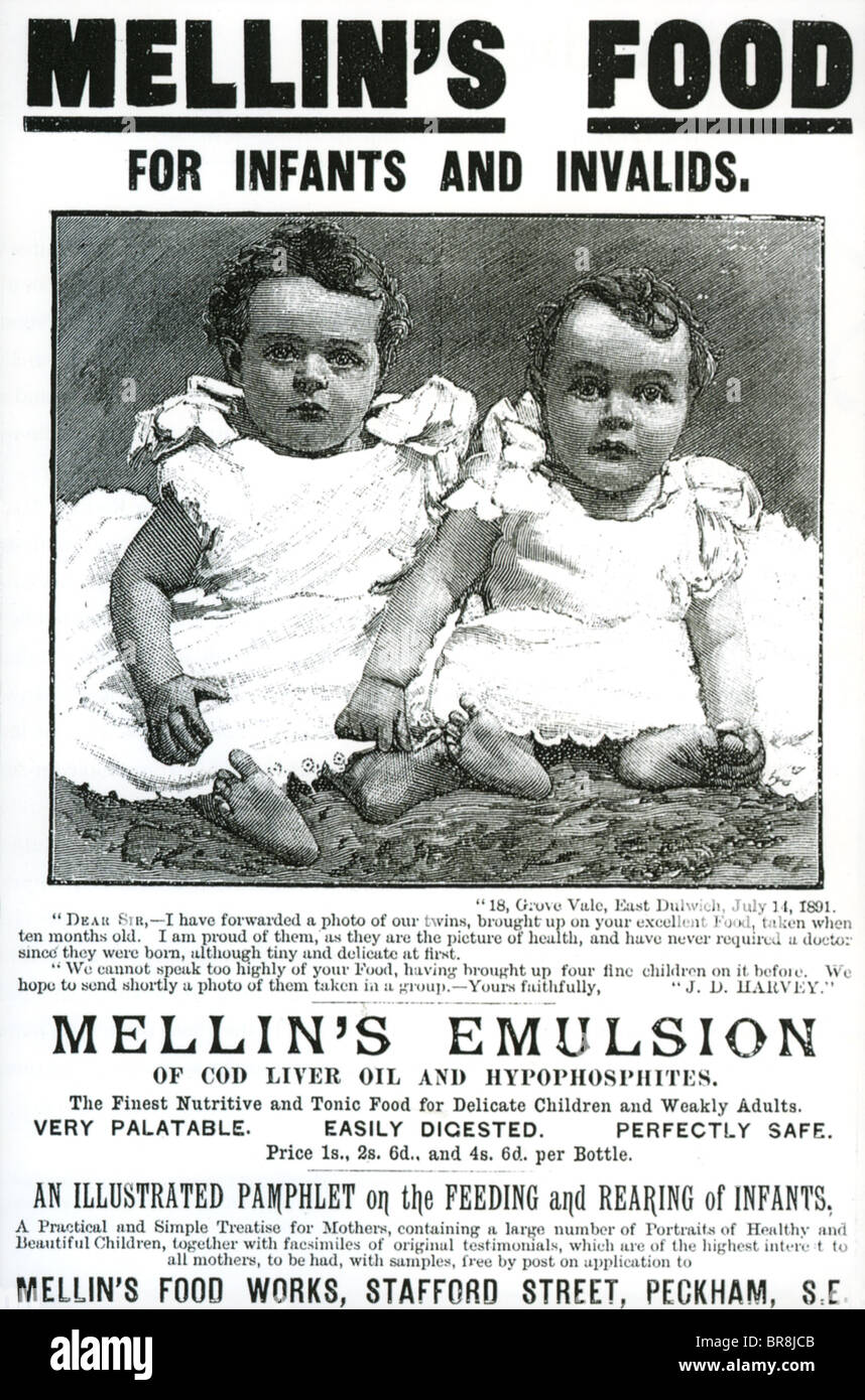 Baby Food Magazine Advert For Mellin S Emulsion Of Cod