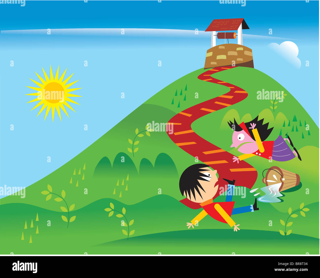 Jack Jill Nursery Rhyme Stock Photos & Jack Jill Nursery Rhyme ...