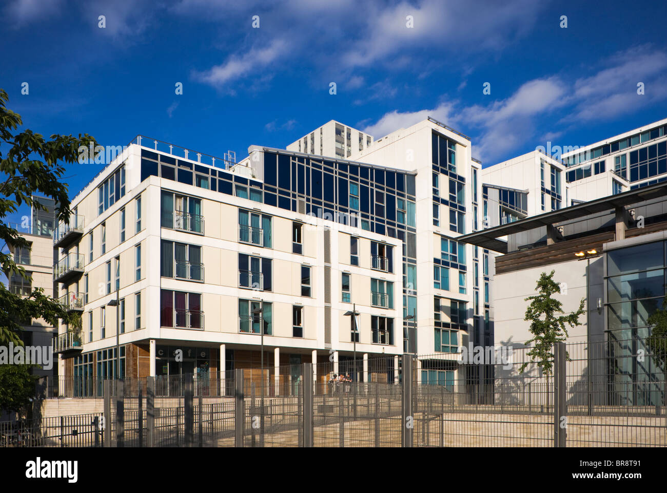 modern apartment building in swiss cottage london uk stock