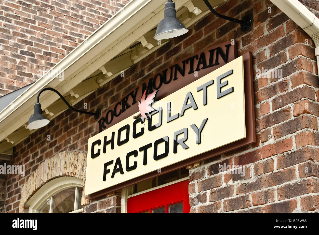 rocky mountain chocolate factory store sign Stock Photo, Royalty ...