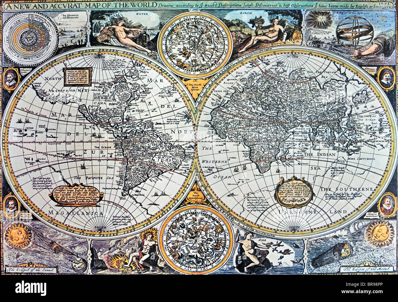 A Copy Of A European Th Century World Map Showing The Know World - 17th century world map