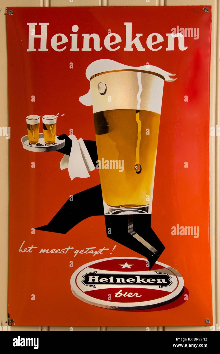 Heineken Beer Sign Pub Bar Cafe Netherlands Stock Photo ...