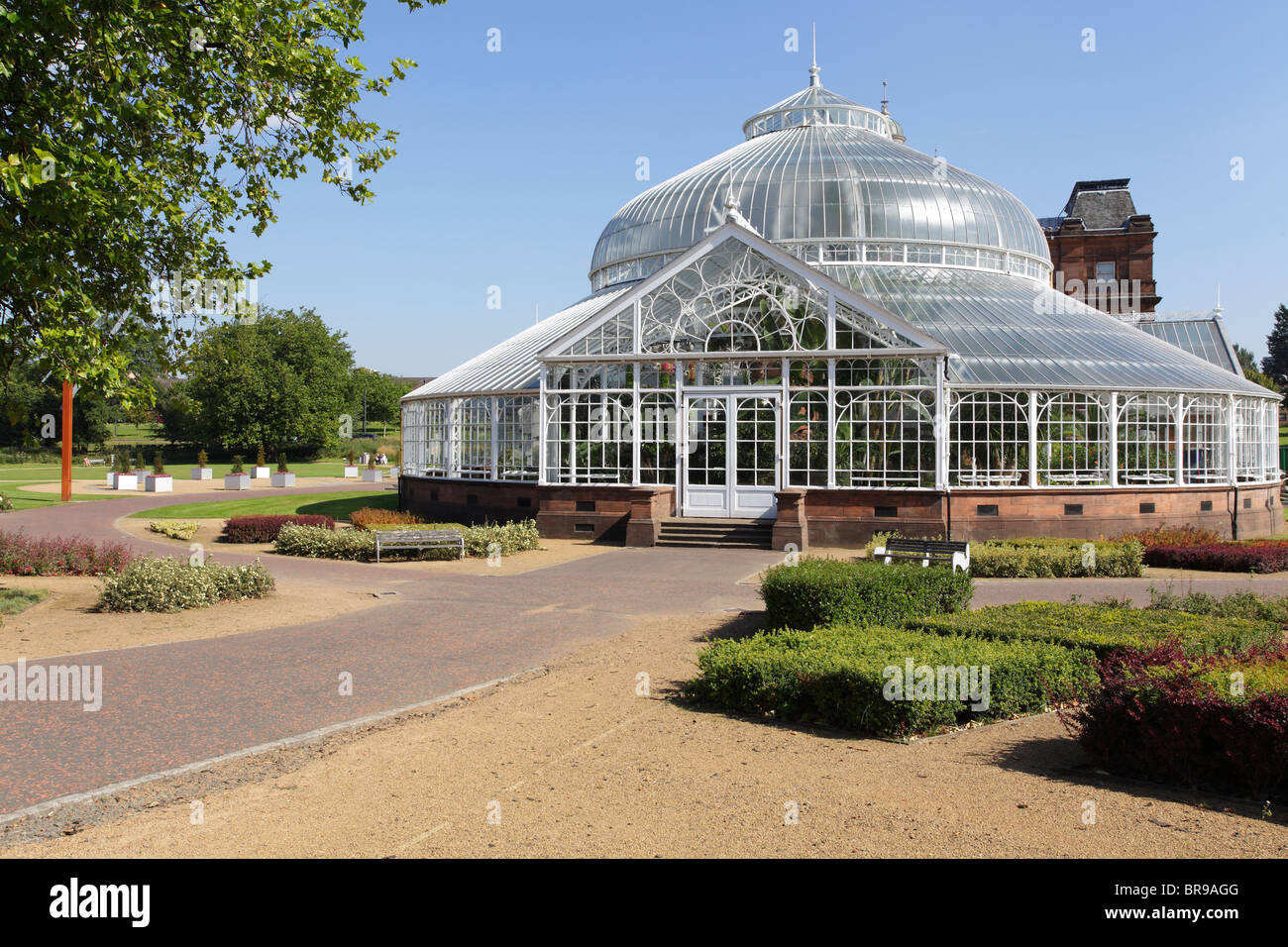 the victorian winter gardens attached to the people u0027s palace on
