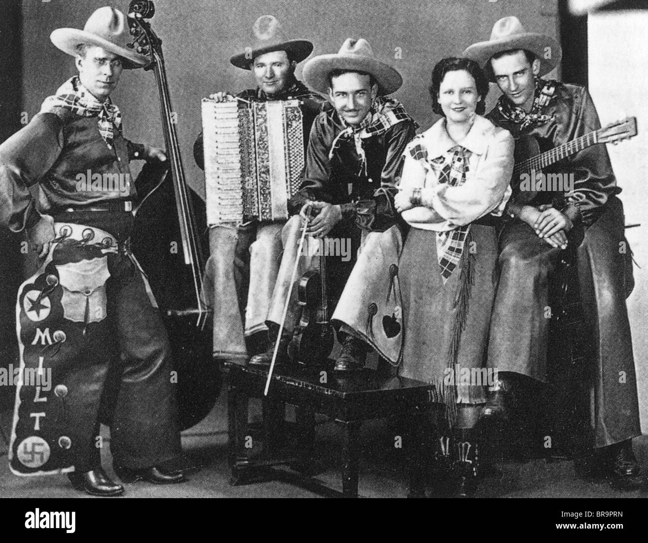 LOUISE MASSEY AND THE WESTENERS Early Country music group about 1935 ... Accordion