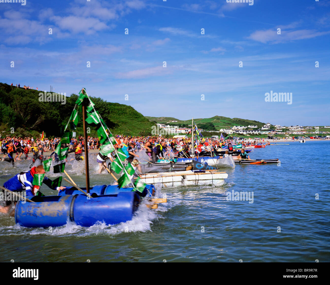 Downings Ireland  city images : Downings Raft Race, Co. Donegal, Ireland Stock Photo, Royalty Free ...