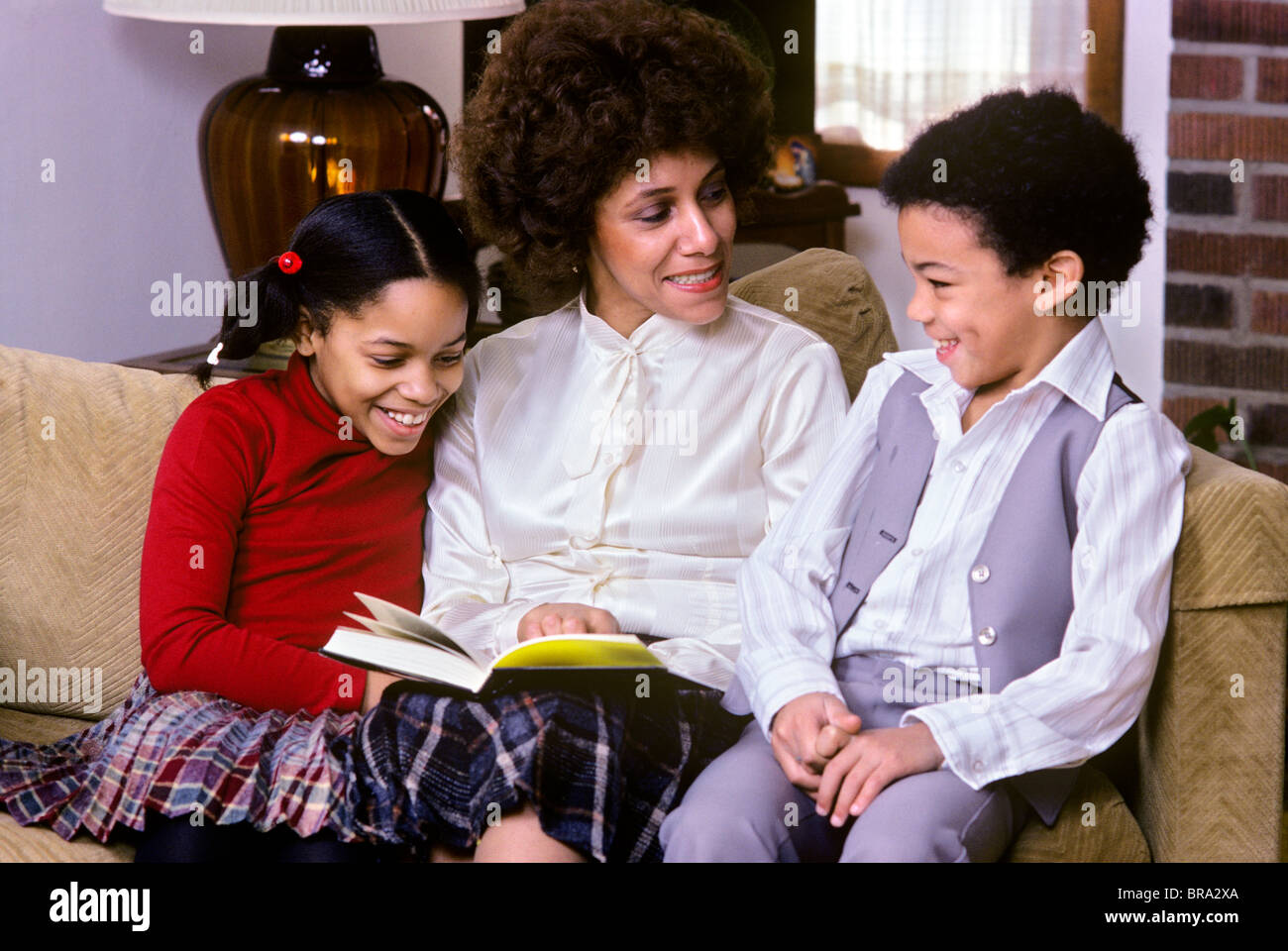 1970 1970s 1980 1980s Retro African American Mother