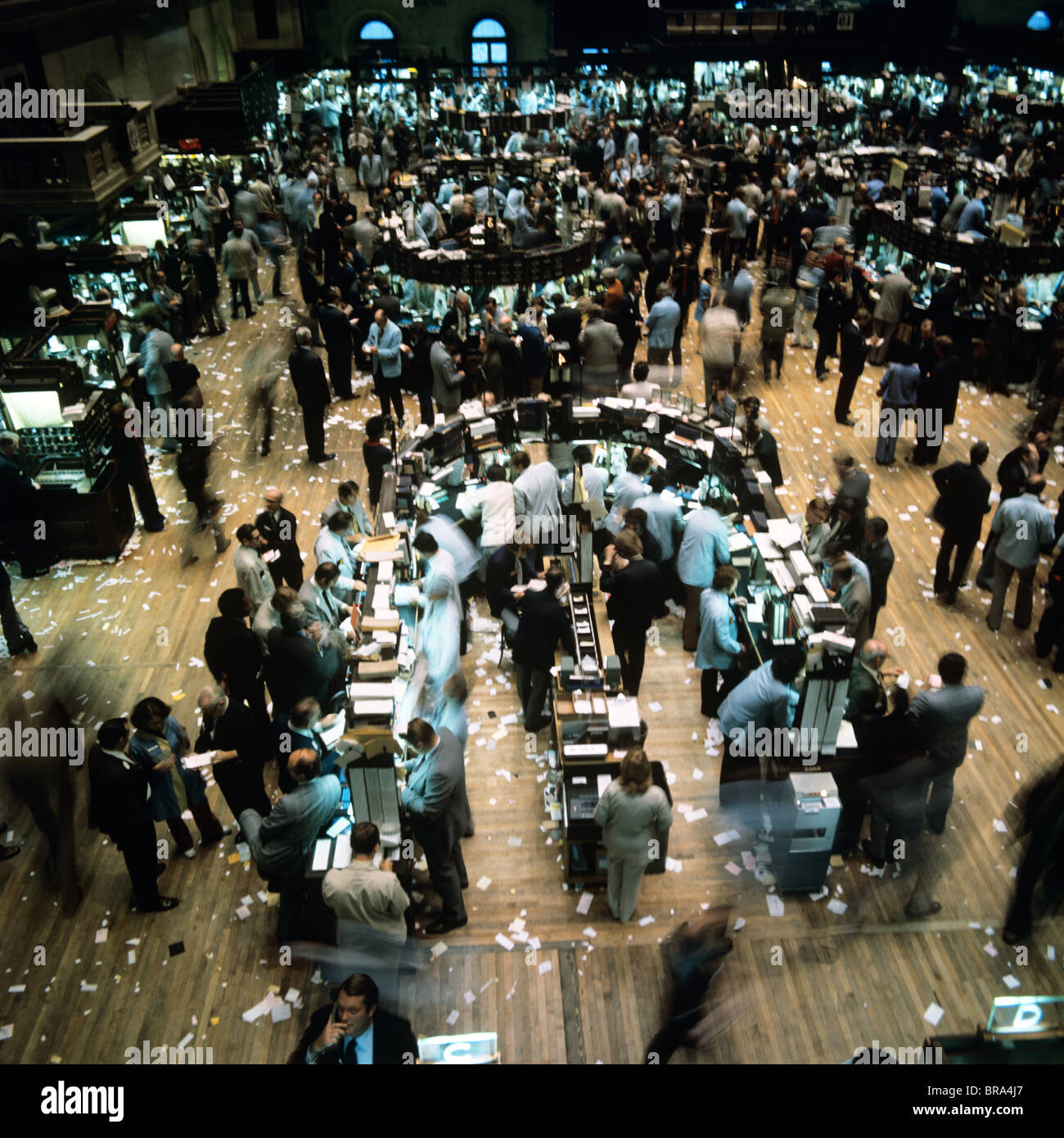 1980s Interior Trading Floor Of The New York Stock