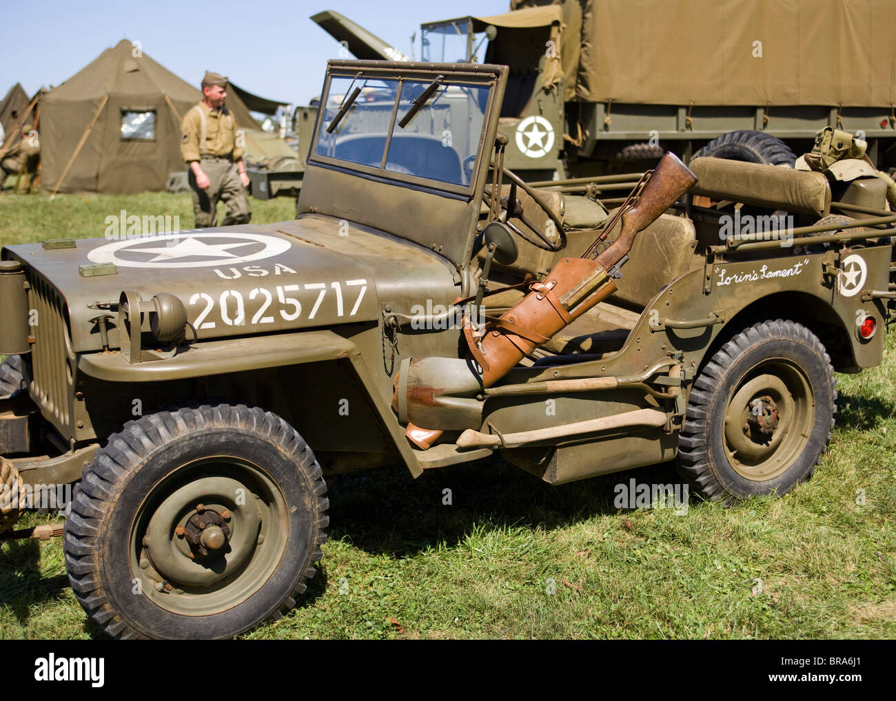 wwii era us army willys jeep stock photo royalty free image 31572185 alamy. Black Bedroom Furniture Sets. Home Design Ideas