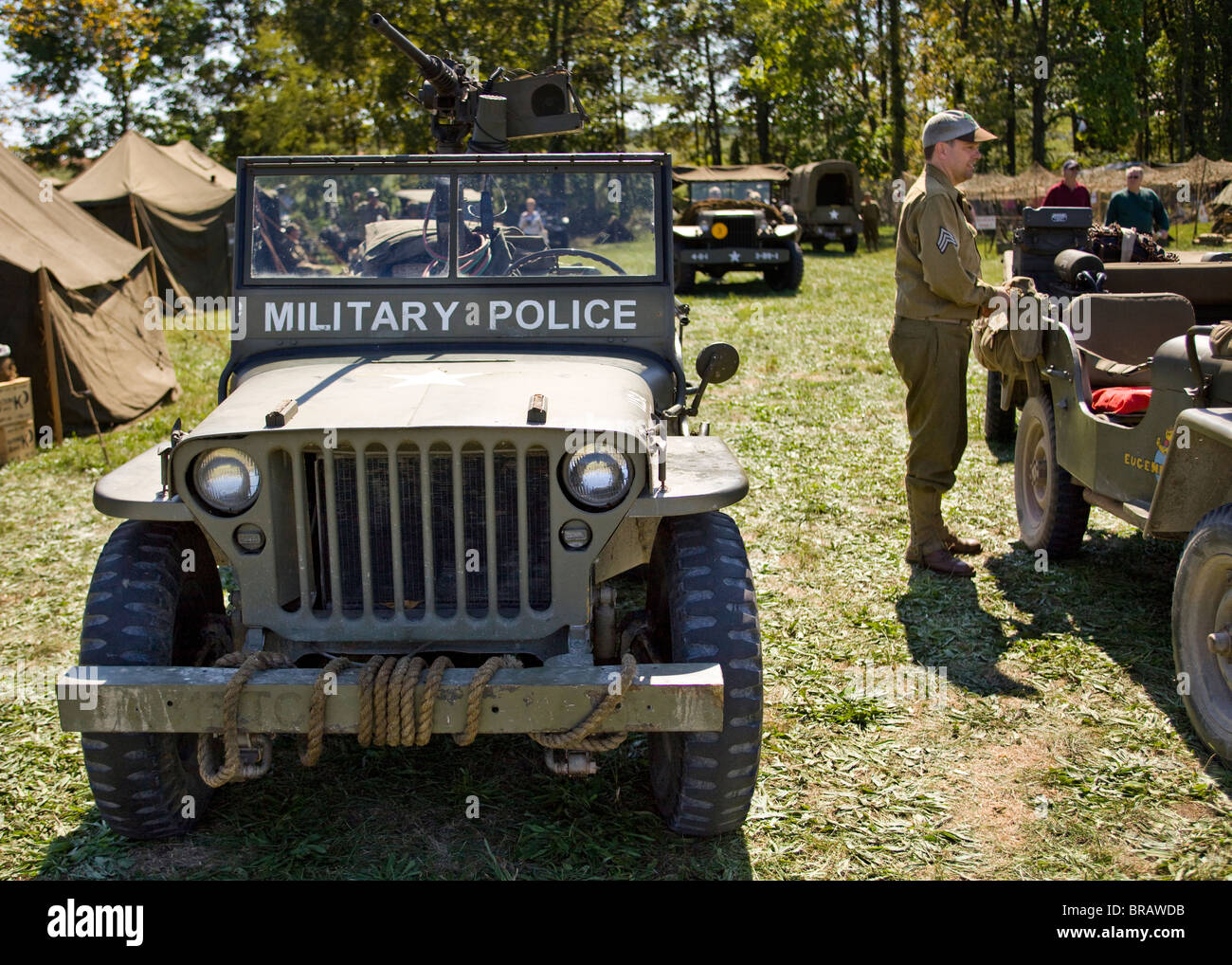 Stock photo wwii era us army s military police willys jeep