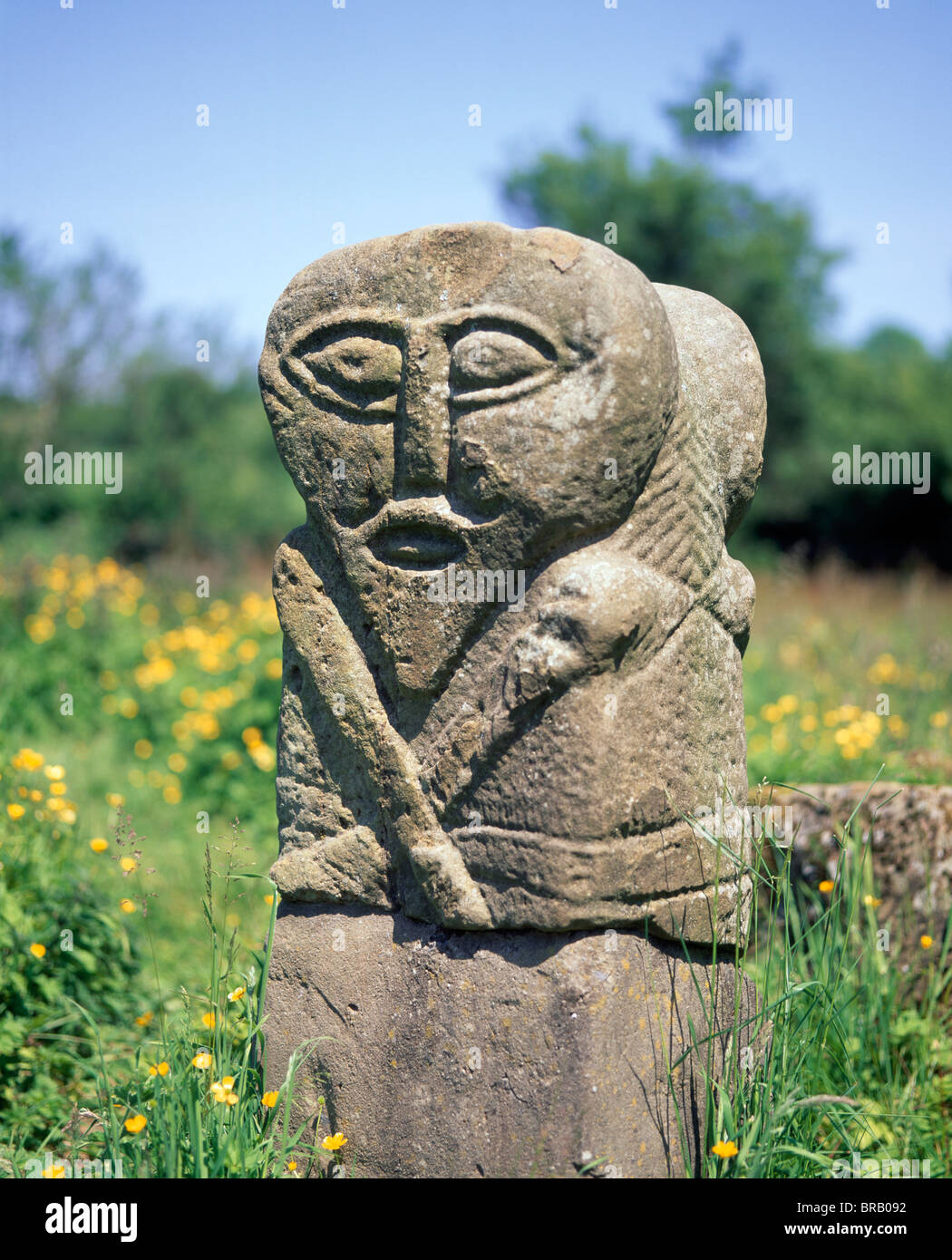 Stone carving boa island county fermanagh northern