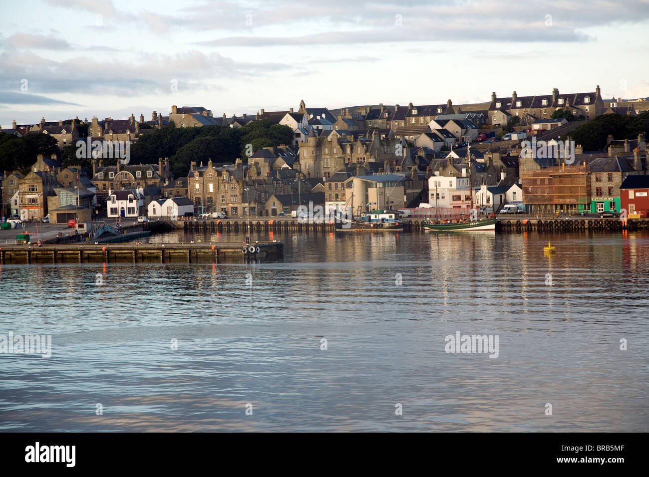 Harbour And Town Lerwick Shetland Islands Scotland