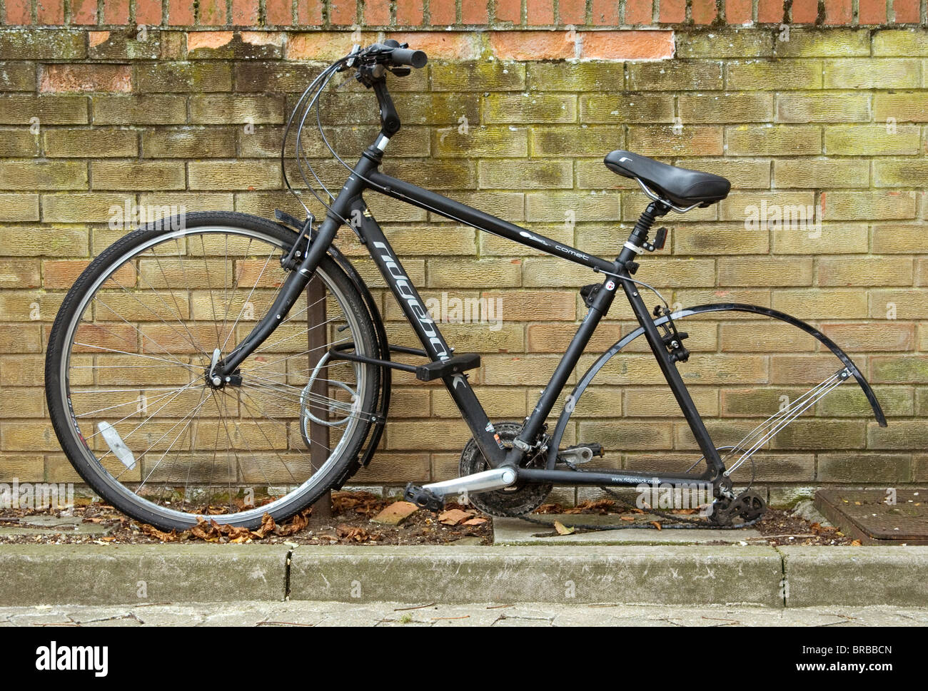 A New Ridgeback Comet Bicycle With Its Rear Wheel Missing