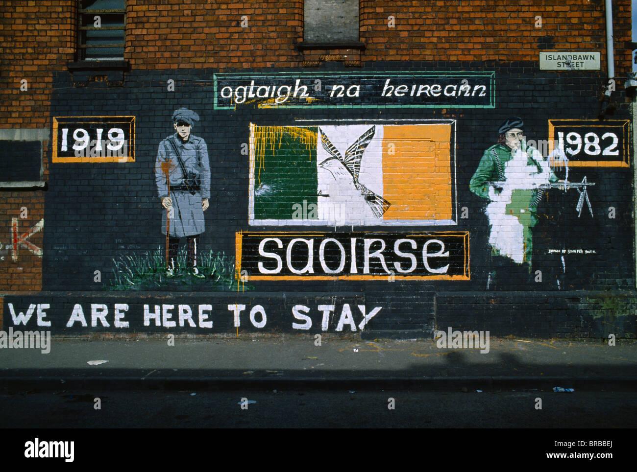 Northern ireland belfast falls road irish republican for Easter rising mural