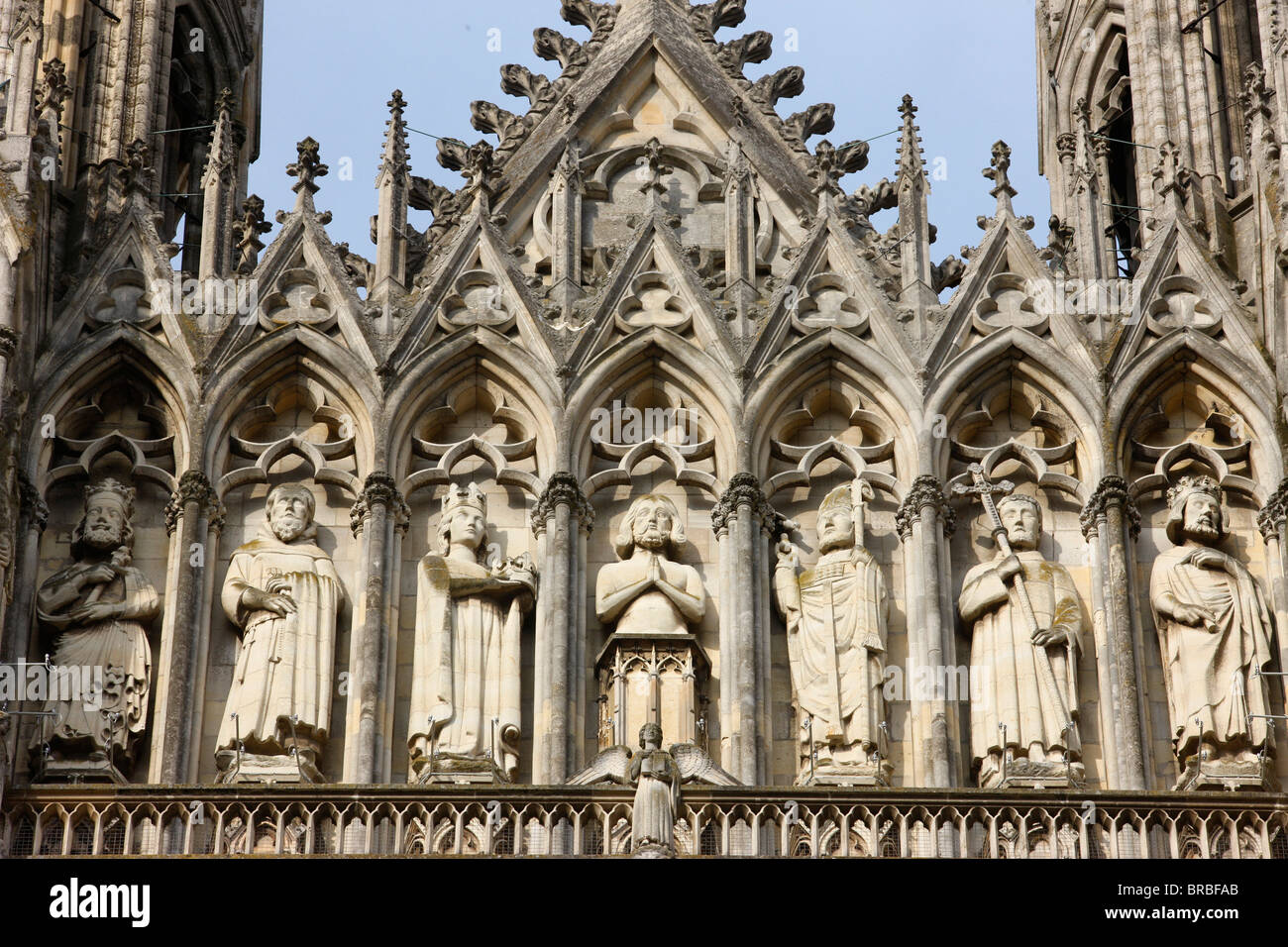 west front of reims cathedral unesco world heritage site reims stock photo 31600979 alamy. Black Bedroom Furniture Sets. Home Design Ideas