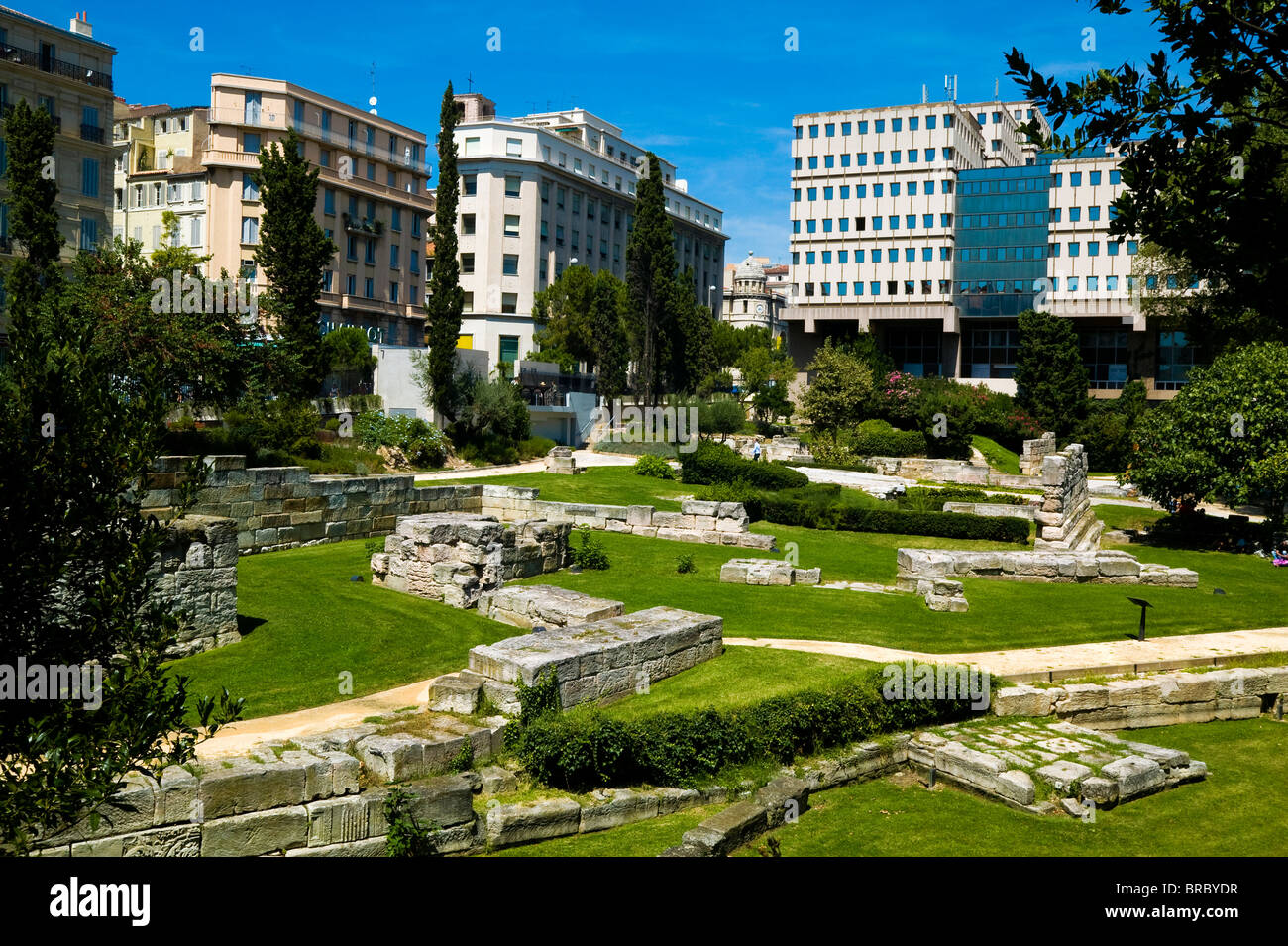 Jardin des vestiges marseille provence france stock for France jardin